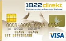 1822direkt Gold Kreditkarte Logo