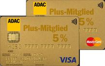 Logo ADACKreditKarte Gold Doppel