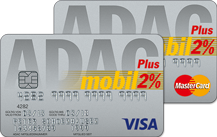 ADAC mobilKarte Silber – Doppel Logo