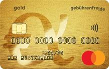 GebührenfreiMastercard Gold - Kartenmotiv