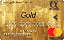 Advanzia BankMastercard Gold - Kartenmotiv