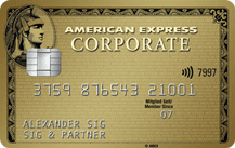 American ExpressCorporate Gold Card - Kartenmotiv
