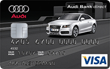 Audi Bank Visa Card pur Logo
