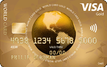 ICS Visa World Card Gold Logo