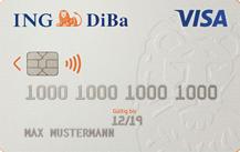 ING-DiBaGirokonto mit VISA direkt - Kartenmotiv