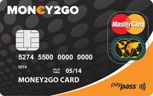 Money2Go Prepaid MasterCard Logo