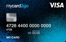 mycard2go Prepaid Visa Card Logo