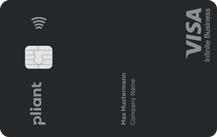 pliant Premium Visa Platinum Business (black) - Kartenmotiv