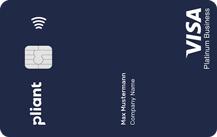 pliantStarter Visa Platinum Business (blue) - Kartenmotiv