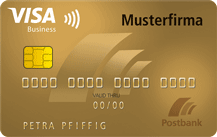 Postbank VISA Business Card Gold Logo