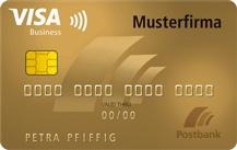 Postbank VISA Business Card Gold Logo