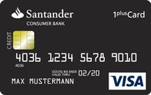 Santander 1plus Visa-Card Logo