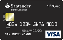 Santander1plus Visa-Card - Kartenmotiv