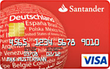 Santander VISA Vario Card Logo