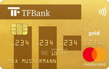 TF Bank Mastercard Gold Logo