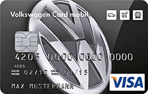 Volkswagen Bank Visa Card mobil mit Reise-Versicherung Logo