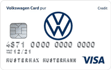 Volkswagen Bank Visa Card pur Logo